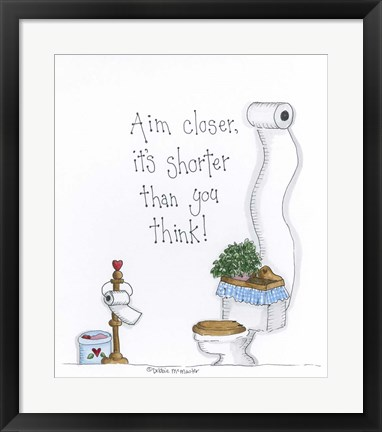 Framed Aim Closer Print