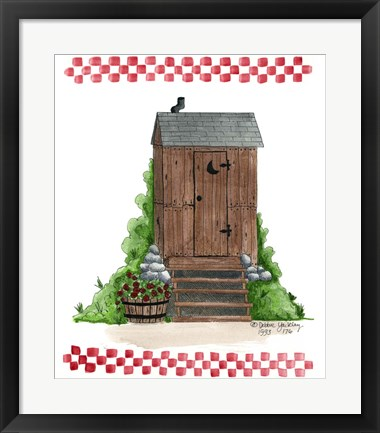 Framed Wooden Outhouse Print