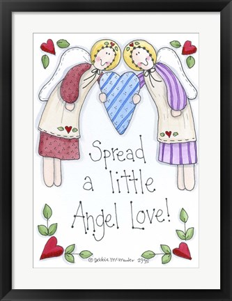 Framed Spread A Little Angel Love Print
