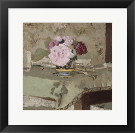 Framed Bouquet of Roses Print