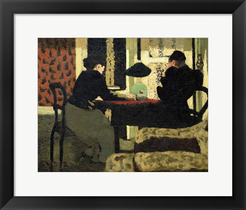 Framed Two Women Under a Lamp, 1892 Print