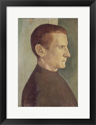 Framed Portrait of the Dutch Painter Jan Verkade, 1893 Print