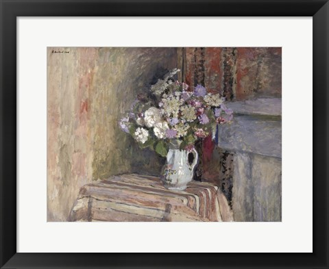 Framed Flowers in a Vase Print