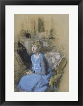 Framed Woman in Blue, c. 1925-1930 Print