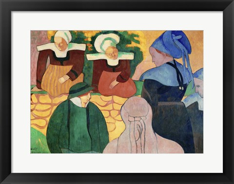 Framed Women in Brittany Print