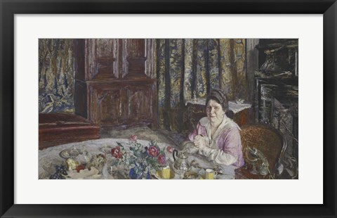 Framed Portrait of Madame Henri Vaquez Print