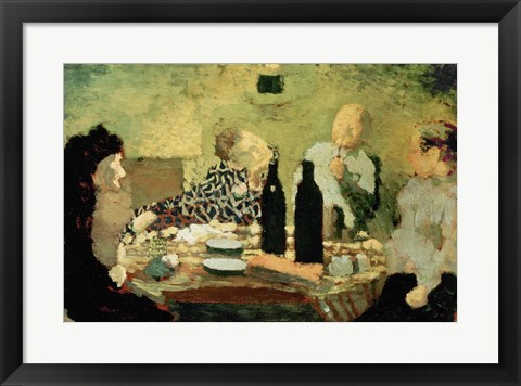 Framed Family After a Meal, 1891 Print