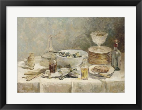 Framed Still Life with Salad, c. 1890 Print