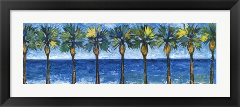 Framed Palms In Paradise Print