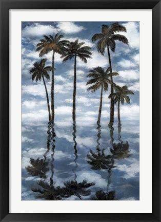Framed Mirrored Palms Print