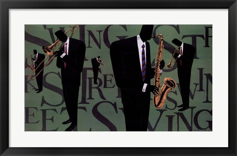 Framed Swing Street Horns Print