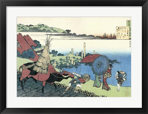 Framed Bay of Naniwa Print