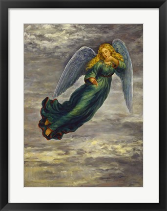 Framed Angel In The Clouds Print