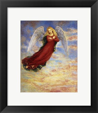 Framed Angel In The Sky Print