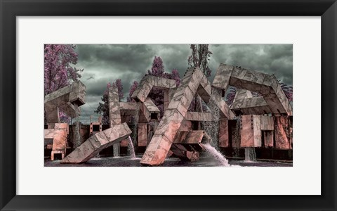 Framed Vaillancourt Fountain Print