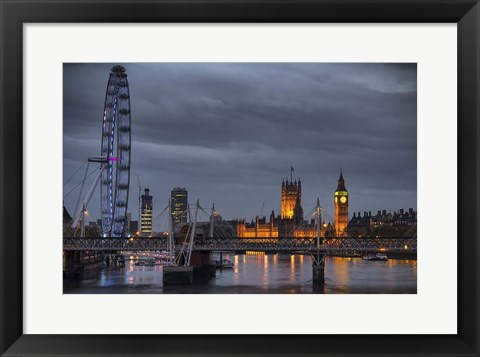 Framed From Waterloo Bridge Print