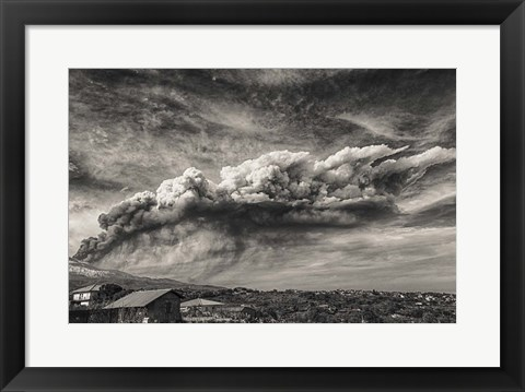 Framed Rain Clouds Print