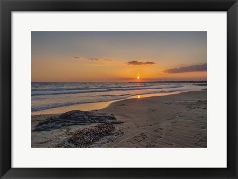 Framed Beach Sunset Print