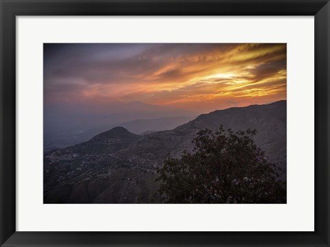 Framed Looking for Etna Print