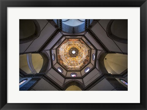 Framed Under The Brunelleschi's Dome Print