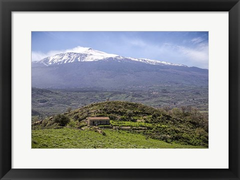 Framed Quiet Mount Etna Print