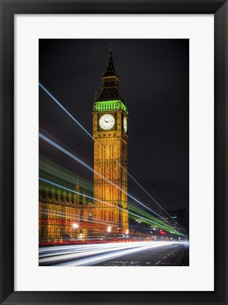 Framed Streams Over Westminster Print