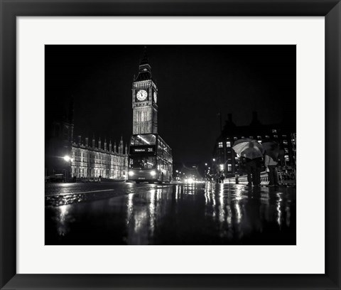 Framed Big Ben B/W Print