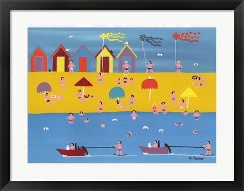 Framed Jet Skis and Kites Print