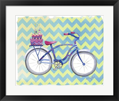 Framed Jane Bike Print