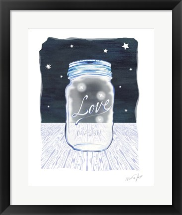 Framed Jane Mason Jar Print