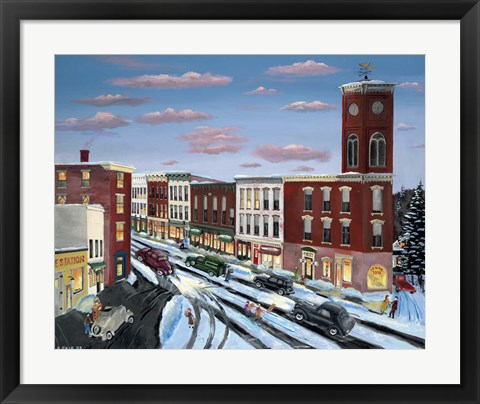 Framed Chatham Clock Tower Print