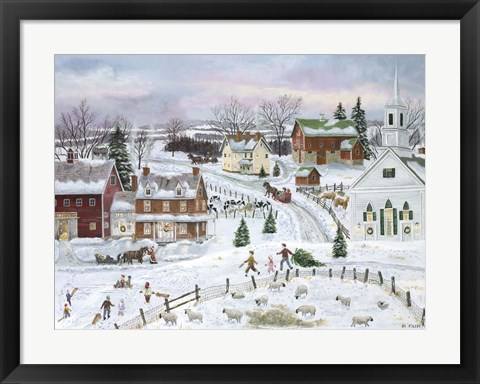 Framed Country Christmas Print