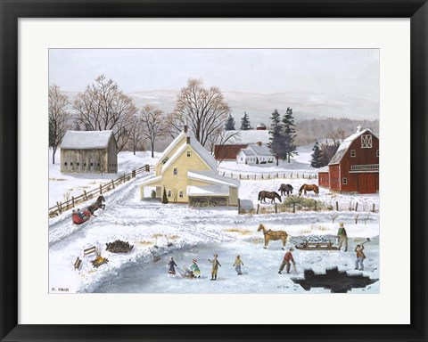 Framed Ice In The Country Print