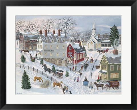 Framed Oak Ridge in Winter Print