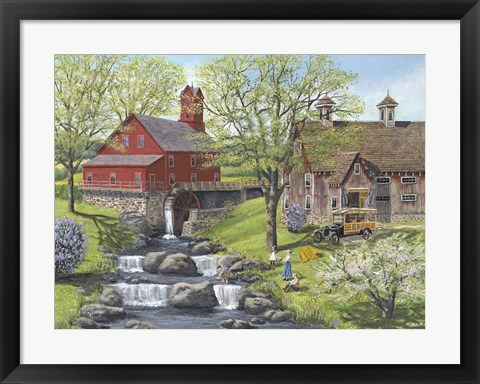 Framed Picnic at the Mill Print
