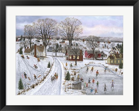 Framed Sleds and Skates Print