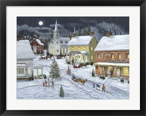 Framed Sleigh Bells Ring Print