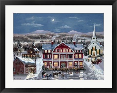 Framed Inn At Three Pine Print