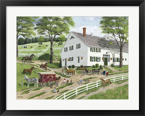 Framed Trimming Hooves at the Stable Print