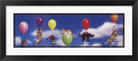 Framed Kittens in Flight Print