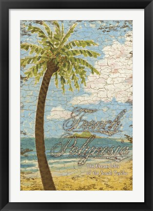Framed French Polynesia Print