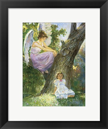 Framed Guardian Angel Print
