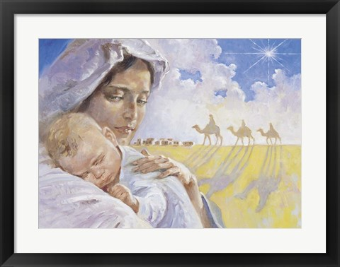 Framed Mary With Baby Jesus Print