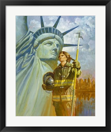 Framed Ladies Of Liberty Print
