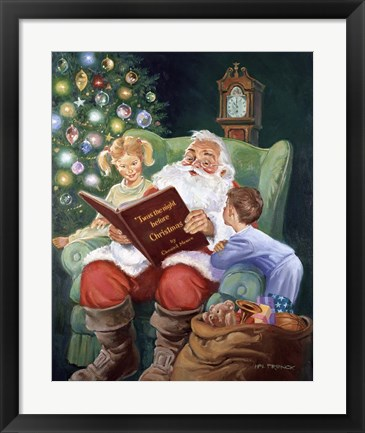 Framed Twas The Night Before Christmas Print