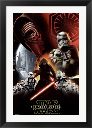 Framed Star Wars 7 TFA - Dark Side Print