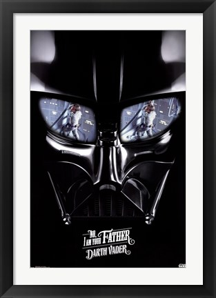 Framed Star Wars - I Am Your Father Print