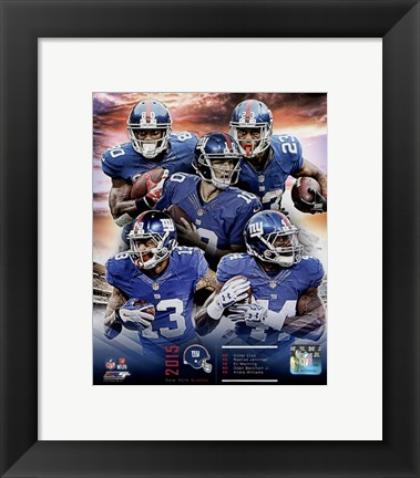 Framed New York Giants 2015 Team Composite Print