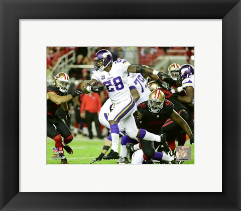Framed Adrian Peterson 2015 Action Print