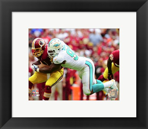 Framed Cameron Wake 2015 Action Print